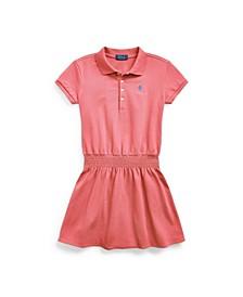 Big Girls Smocked Mesh Polo Dress