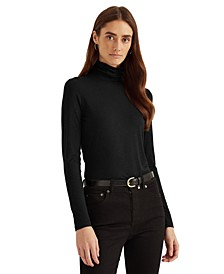 Slim-Fit Turtleneck Top