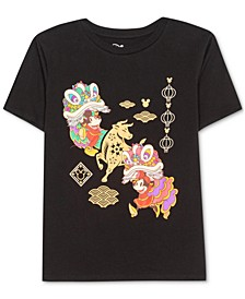 Juniors' Mickey & Minnie Mouse Parade T-Shirt