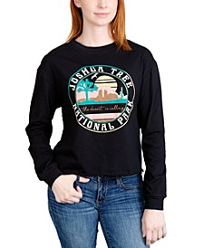 Juniors' Joshua Tree Long-Sleeved Graphic T-Shirt