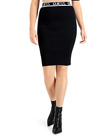 Logo Band Pencil Skirt