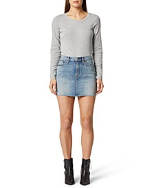 The Viper Denim Mini Skirt