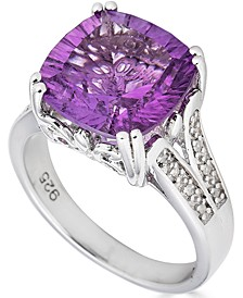 Amethyst (6 ct. t.w.) & Diamond (1/10 ct. t.w.) Ring in Sterling Silver (Also in Citrine, Mystic Topaz & Blue Topaz)