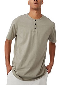 Men's Longline Scoop Henley T-shirt