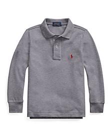 Toddler Boys Mesh Long Sleeve Polo Shirt