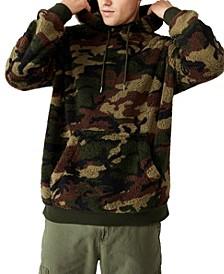 Men's Drop Shoulder Teddy Fleece Hood
