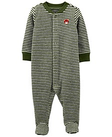 Baby Boys Striped Terry Snap-Up Sleep and Play One Piece