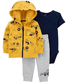 Baby Boys 3-Piece Construction Little Jacket Set