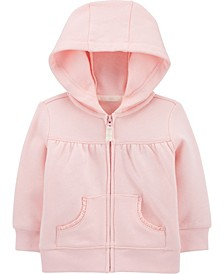 Baby Girls Zip-Front Fleece Hoody