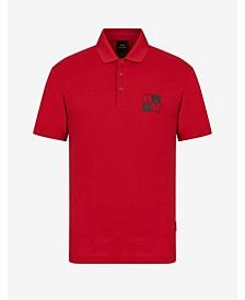 AX Square Check Breast Logo Polo Shirt