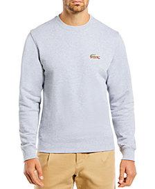 Lacoste Men's Embroidered Animal-Print Croc Logo Fleece Sweatshirt
