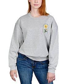 Juniors' Floral Graphic Sweatshirt