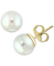 EFFY® Akoya Cultured Pearl (8mm) Stud Earrings in 14k Gold