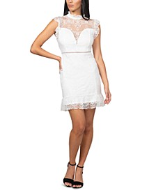 Juniors' Illusion Lace Bodycon Dress