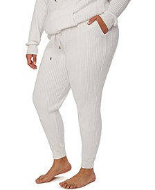 Trendy Plus Size Cable-Knit Jogger Pants, Created for Macy's
