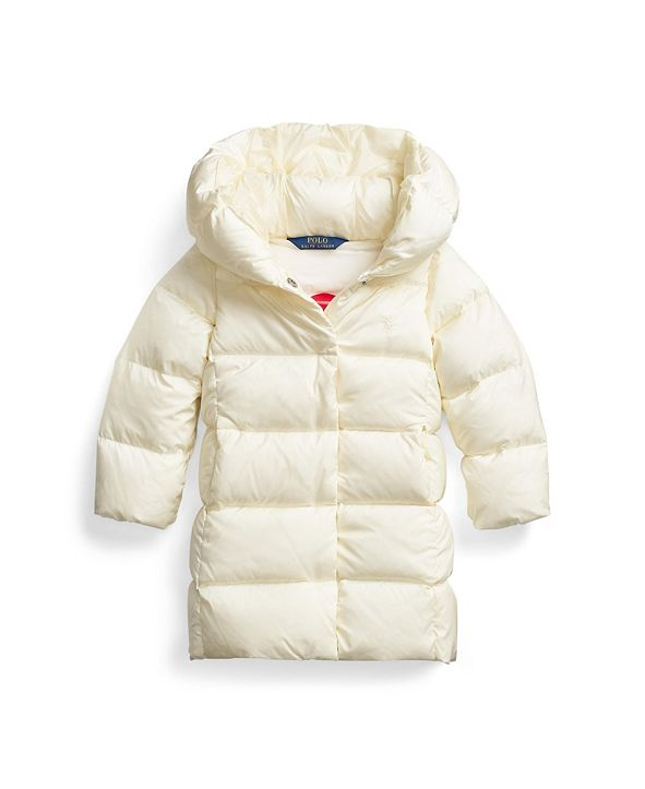 Polo Ralph Lauren Toddler Girls Quilted Hooded Down Coat