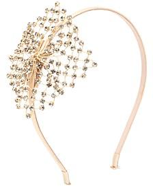 Gold-Tone Crystal Mesh Headband