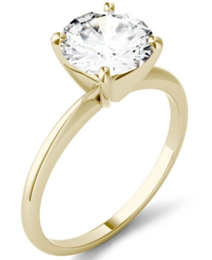 Moissanite Solitaire Ring (1 ct. t.w. Dew) in 14k White Gold