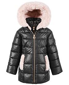Toddler Girls' Stadium Puffer Jacket With Faux-Fur Trim