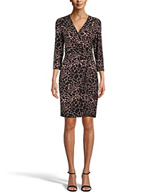 The Signature Printed Faux-Wrap Dress