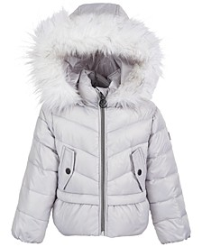 Toddler Girls Peplum Puffer Coat