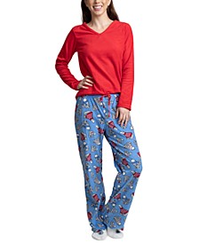 Fleece Top, Pants & Socks 3pc Pajama Gift Set