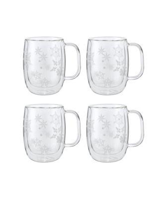 Zwilling Sorrento Coffee Glass Mugs, Holiday Set of 4