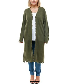 Trendy Plus Size Destructed Cardigan