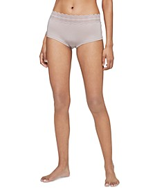 Women's Lace Trim Hipster Underwear QD3781