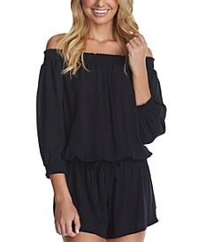 Juniors' West Coast Romper Cover-Up