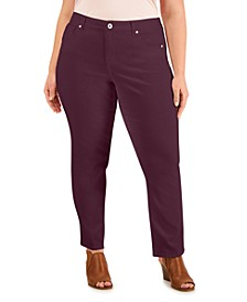 High-Rise Natural Straight-Leg Jeans, Created For Macy's