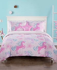 Unicorn Fame 7 Piece Comforter Set, Full