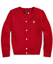 Toddler Girls Cable-Knit Cotton Cardigan