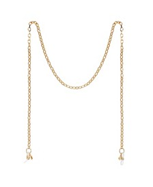 "Gold Flash Plated Link 27"" Glasses or Face Mask Chain"