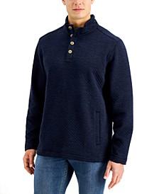 Men's Quilted Crest Mock-Neck Shirt