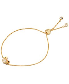 Two-Tone Pavé Minnie Slider Bracelet