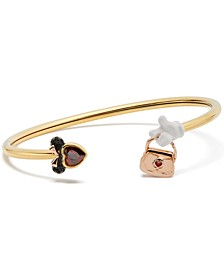 Tri-Tone Crystal Minnie Flex Cuff Bracelet