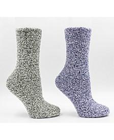 Women's Classis Non-Skid Warm Soft and Fuzzy Aroma Sole Slipper Socks, 5 Piece