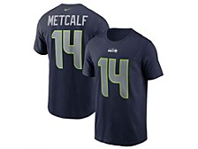 Seattle Seahawks Men's Pride Name and Number Wordmark T-Shirt D.K. Metcalf
