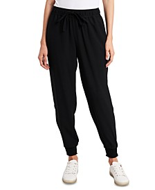 Pull-On Crepe Jogger Pants
