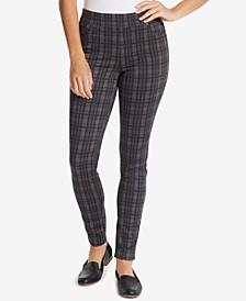 Petite Avery Plaid Pull-On Pants