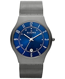 Men's Grenen Gray Stainless Steel Mesh Bracelet Watch 37mm