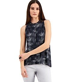 Printed Pleat-Back Sleeveless Top, Created for Macy's
