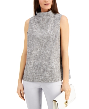 Alfani Tops FUNNEL-NECK TOP, CREATED FOR MACY'S