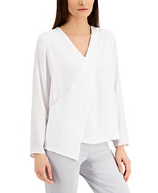 Draped-Front Blouse, Created for Macy's
