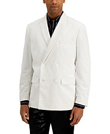 INC Men's Rick Double Breasted Velvet Blazer, Created for Macy's