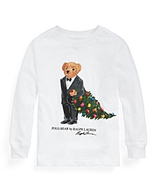 Toddler Boys Christmas Tree Bear Cotton Jersey Tee