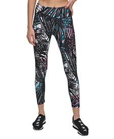 Sport Tropic Shadow Printed High-Rise Leggings