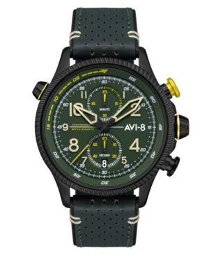 Men's Hawker Hunter Duke Chronograph Cosford Green Genuine Leather Strap Watch