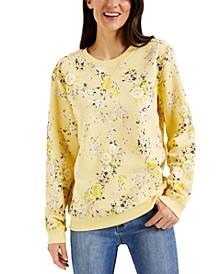 Valerie's Bouquet Fleece Top, Created for Macy's